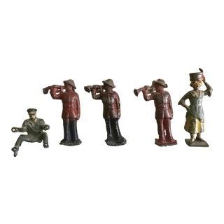 Vintage Tiny Lead Figurines - Set of 5
