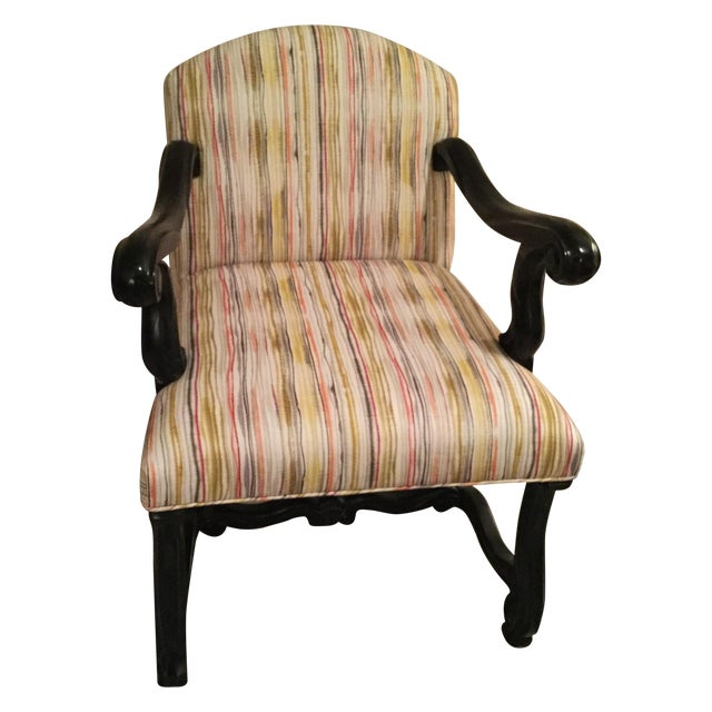 Custom Traditional Upholstered Accent Chair - Image 1 of 3