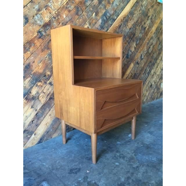 Image of Mid-Century Sculpted Drawer Nightstand