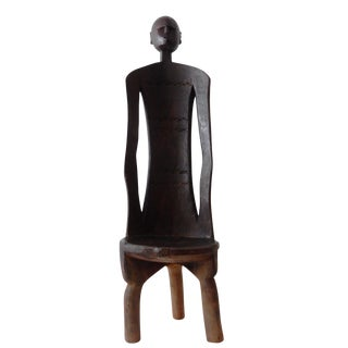 African 3-Legged Makonde Chair