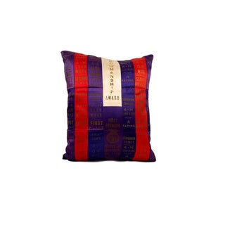 Vintage 4H Club Blue Ribbon Collection Throw Pillow