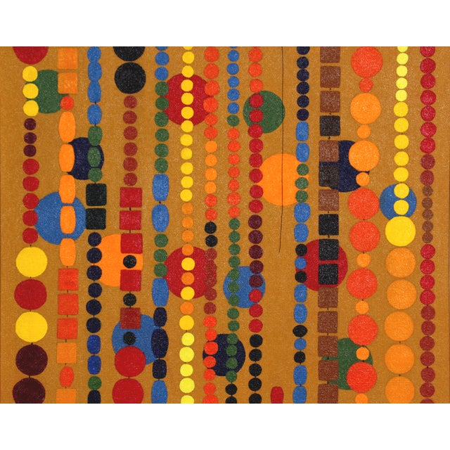 Beaded Curtain Painting by D. Schiller - Image 3 of 4