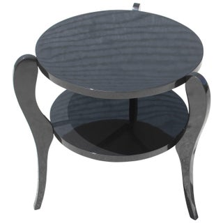 French Art Deco Black Accent Table