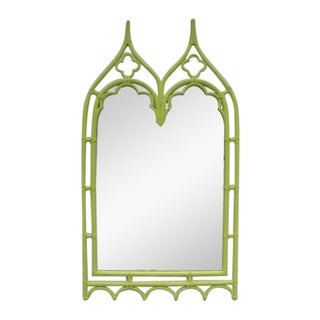 McGuire Bamboo Double Arch Wall Mirror