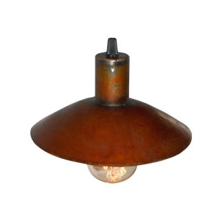 Small Hubcap Pendant Light