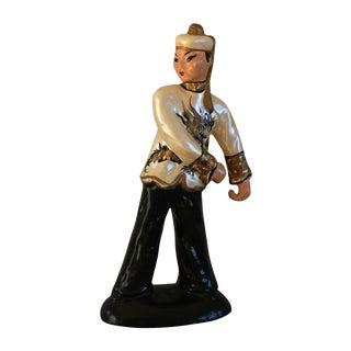 Asian Chalkware Figurine