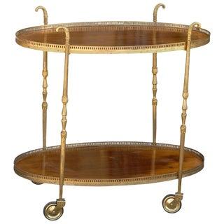 Oval Italian Bar Cart or Trolley