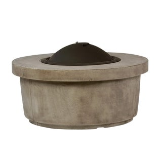 Round Cement Fire Pit