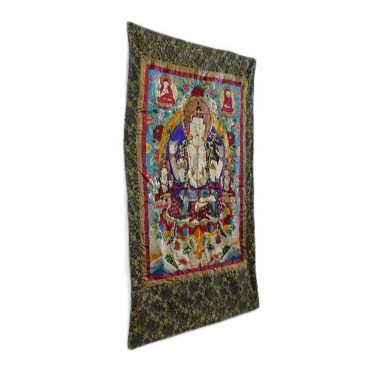 Embroidery Tibetan Tara Buddha Thangka Art - Image 3 of 10