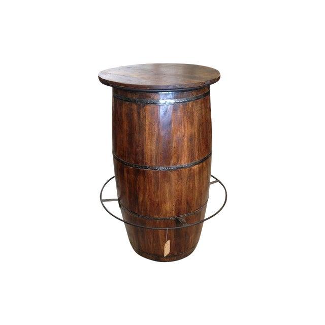Antique Barrel Bar Table - Image 1 of 4
