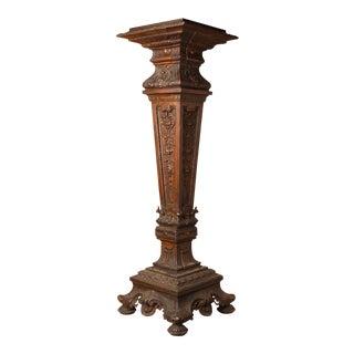 1900s Cast Metal Pedestal