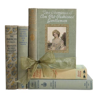 Vintage Book Gift Set: Muted Sage & Grey Mix, S/5