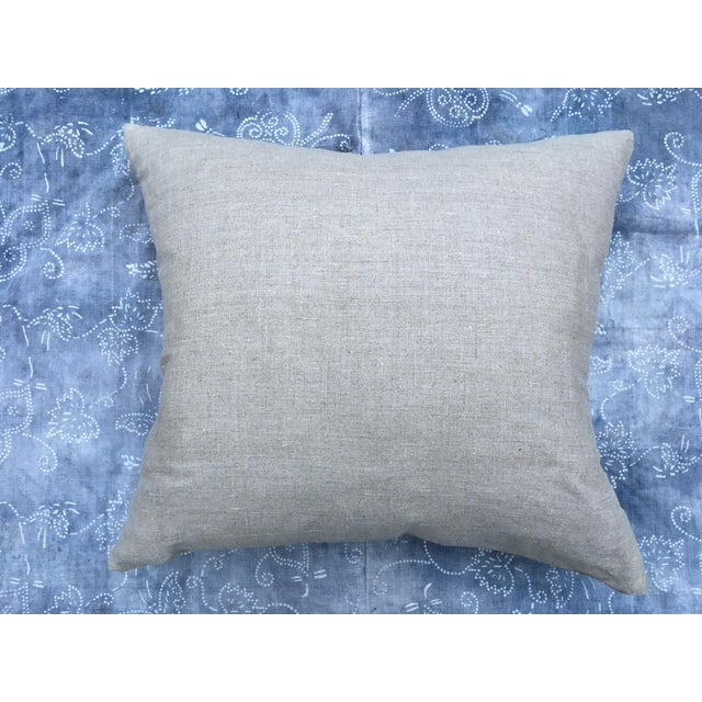 Hand Loomed Tribal Batik Textile Pillow - Image 7 of 7
