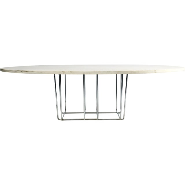 Marble & Chrome Coffee Table - Image 2 of 9