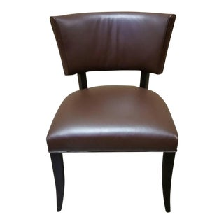 Jessica Charles Brown Leather Maxine Chair