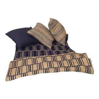 Crate & Barrel Decorative Pillows & Throw - Set of 4
