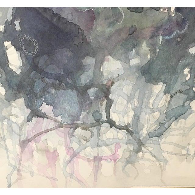 """Indigo Waves"" Watercolor Painting - Image 2 of 2"