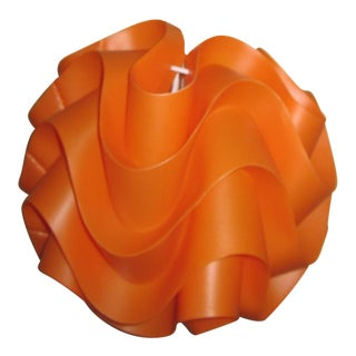 Le Klint Style Orange Wave Pendant Light