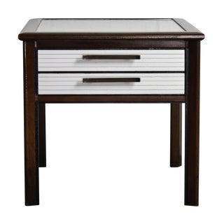Mid-Century Modern Two-Tone Wood End Table