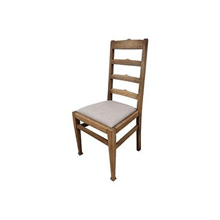 Antique Oak Ladder-Back Chair