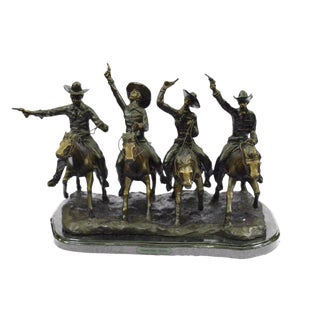 Cowboys & Guns Bronze Sculpture