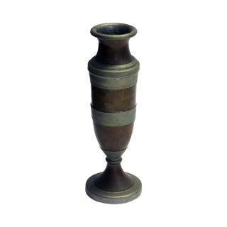 Footed Copper Vase