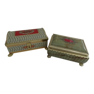 English Biscuit Tins - A Pair