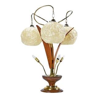 Mid Century Modern Spaghetti Lucite Lamp