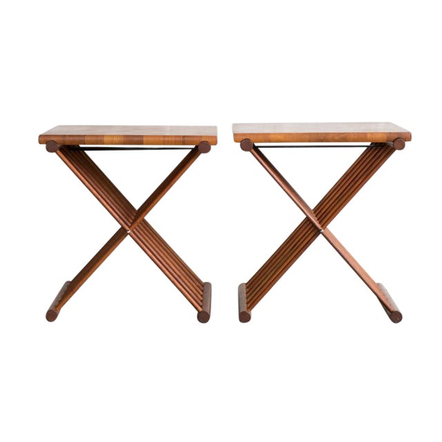 Image of Folding End Tables - Set of 2
