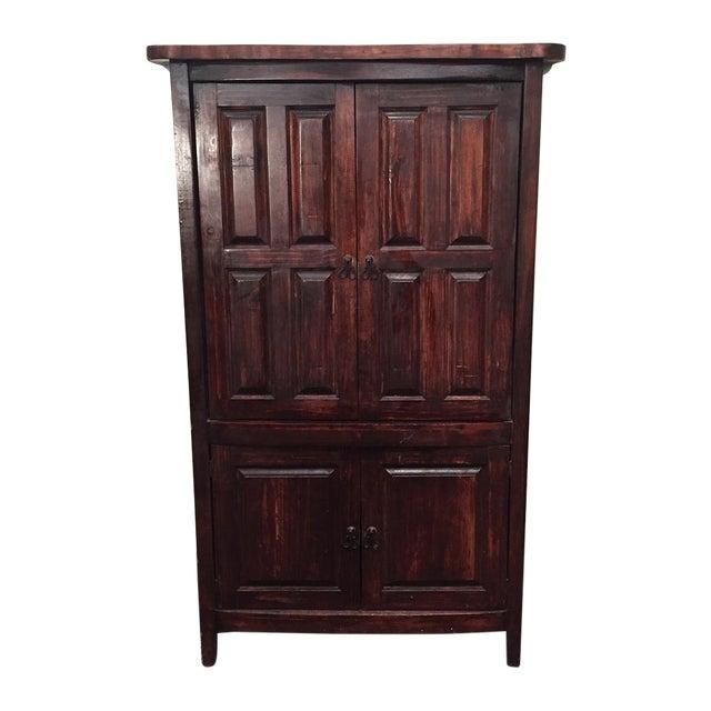 Mahogany Solid Wood 4 Door Armoire - Image 1 of 7