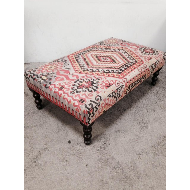 George Smith Boho Chic Kilim Ottoman - Image 2 of 10