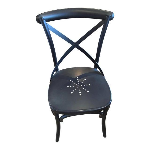 Restoration hardware metal madeleine dining chairs set for Restoration hardware metal chair