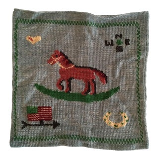 Ralph Lauren Rocking Horse Knit Pillow Cover