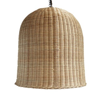 Bell Raw Wicker Lantern XL