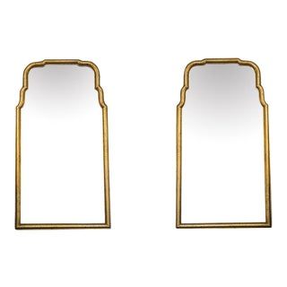 Gilded Mirrors With Arched Frames - A Pair