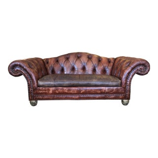 Councill Tufted Leather Camelback Sofa
