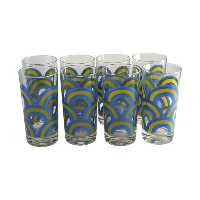 Colony Barware Mid-Century Drinking Glasses - S/8 - Image 1 of 5