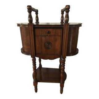 Antique Copper Lined Smoking Stand