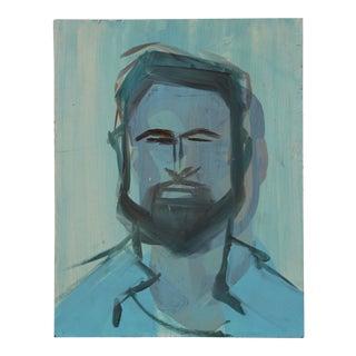 Portrait of a Blue Bearded Man