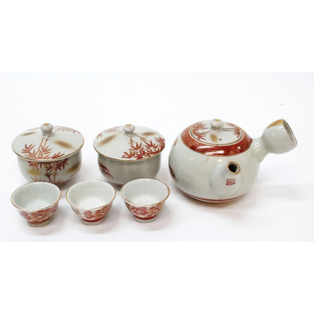 Vintage Asian Tea Serveware - Set of 6 - Image 2 of 7