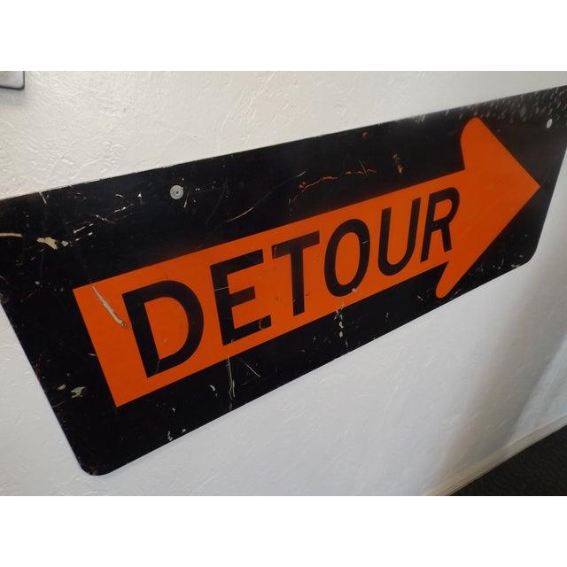 Vintage 'Detour' Sign - Image 3 of 5