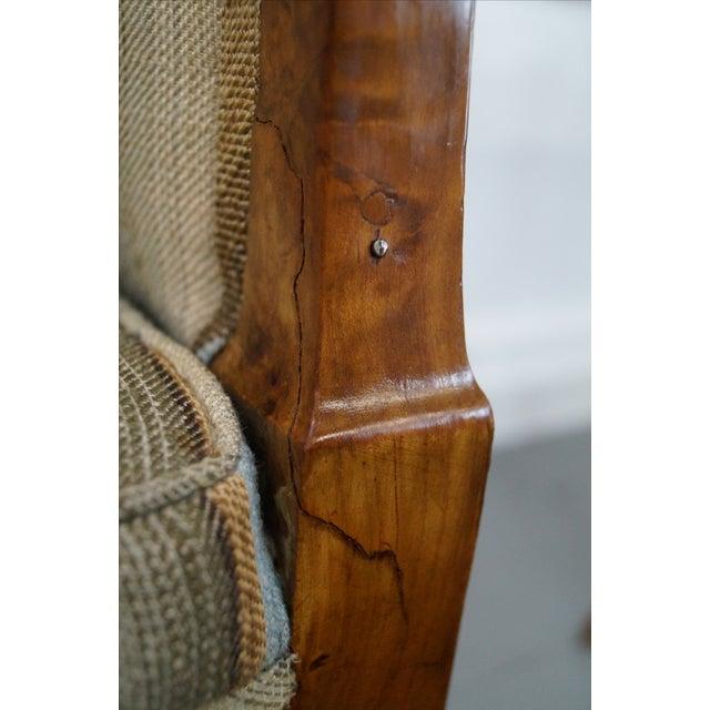 Antique Italian Walnut Klismos Arm Chairs - Pair - Image 5 of 9