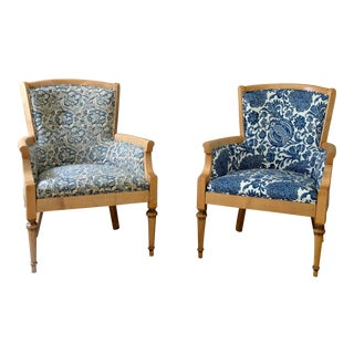 Vintage Petite Bergere Chairs - A Pair