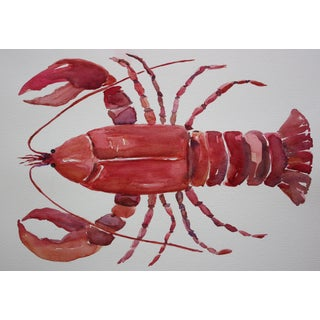 Original Watercolor Painting of a Lobster