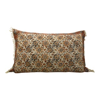 Persian Block Print Bolster Pillow