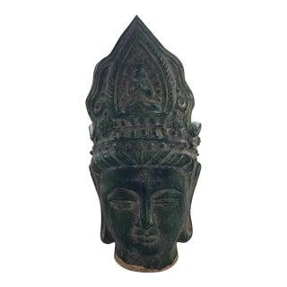 Jade Chinese Majolica Buddha Head