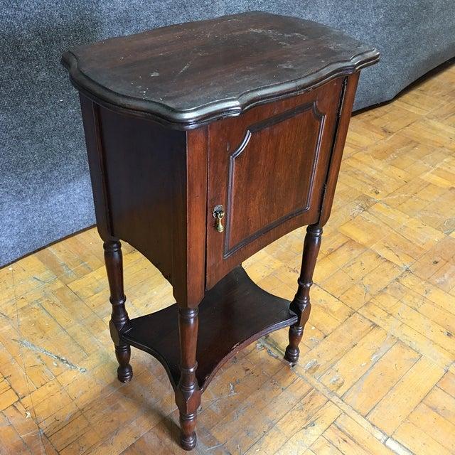 Vintage Antique Side Cabinet Table - Image 6 of 7