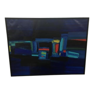 1963 Japanese Abstract Oil Painting