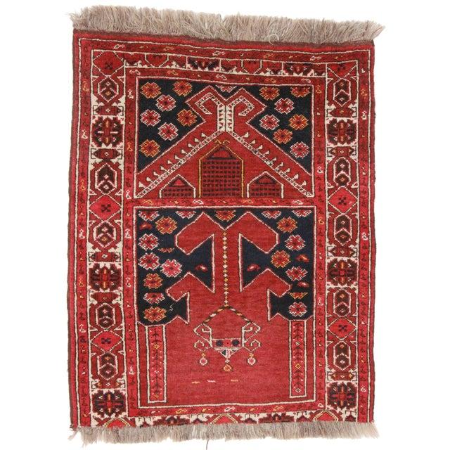 Vintage Tribal Afghan Rug - 2′9″ × 3′5″