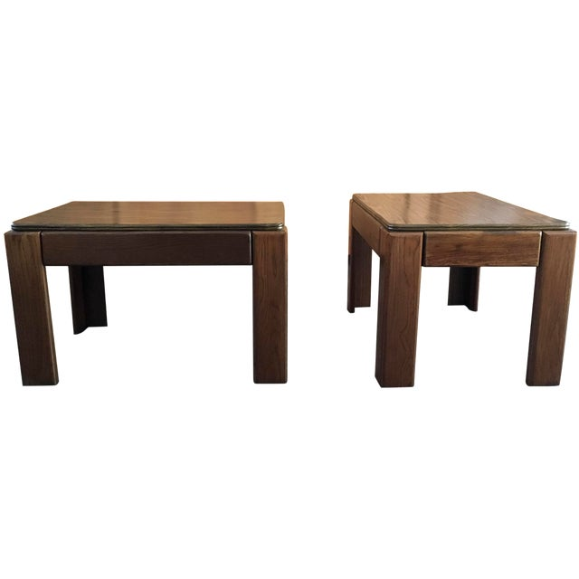 Mid-Century Parsons Style Side Tables - A Pair - Image 1 of 8